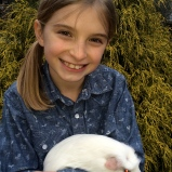 Sophie and her guinea pig