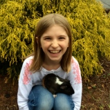 Raffey and her guinea pig