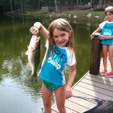 Sophie and her catch of the day