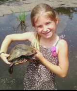Raffey and turtle